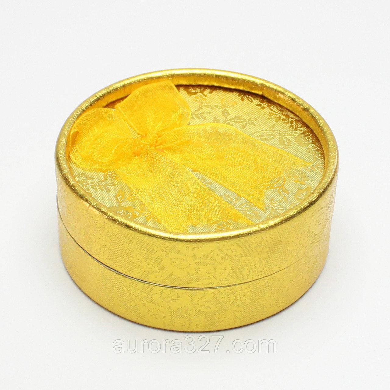 Коробочка для кольца Круг золото 8,5*8,5*3,5 см
