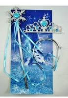 Корона и волшебная палочка Принцессы , феи  с синими камнями