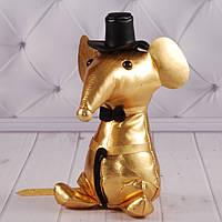 """Мягкая игрушка мышка """"Мистер Крыс"""", игрушка подарок на Новый Год, """"Золотая коллекция"""" символ 2020"""
