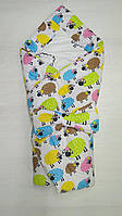 Детский демисезонный конверт-одеяло на выписку Барашки