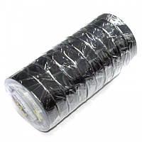 Изолента ПВХ RUGBY 50м чёрная (упаковка 10 шт)