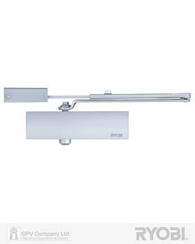 Доводчик дверний накладного типу з кронштейном RYOBI 1200 D-1200P(U) SILVER BC UNIV_ARM EN_2/3/4 80кг 1100мм