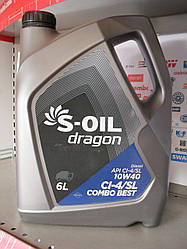 Моторное масло S-oil dragon combo best 10w40