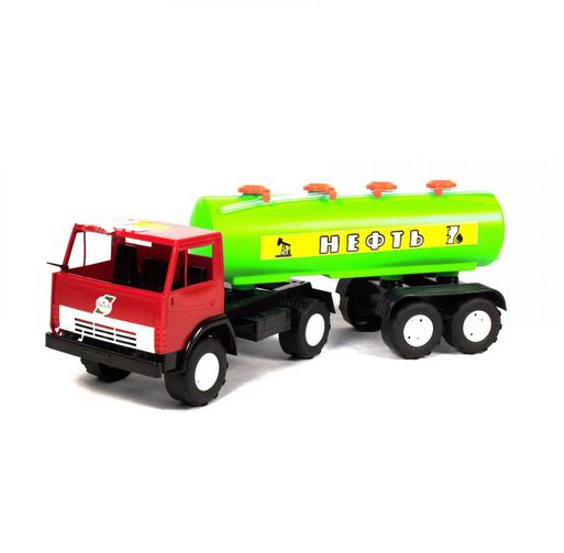 Машинка детская пластмассовая Камаз с цистерной.