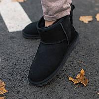 Угги женские UGG Classic Mini II Boot \ Угги Черные \ Жіночі Уггі Чорні