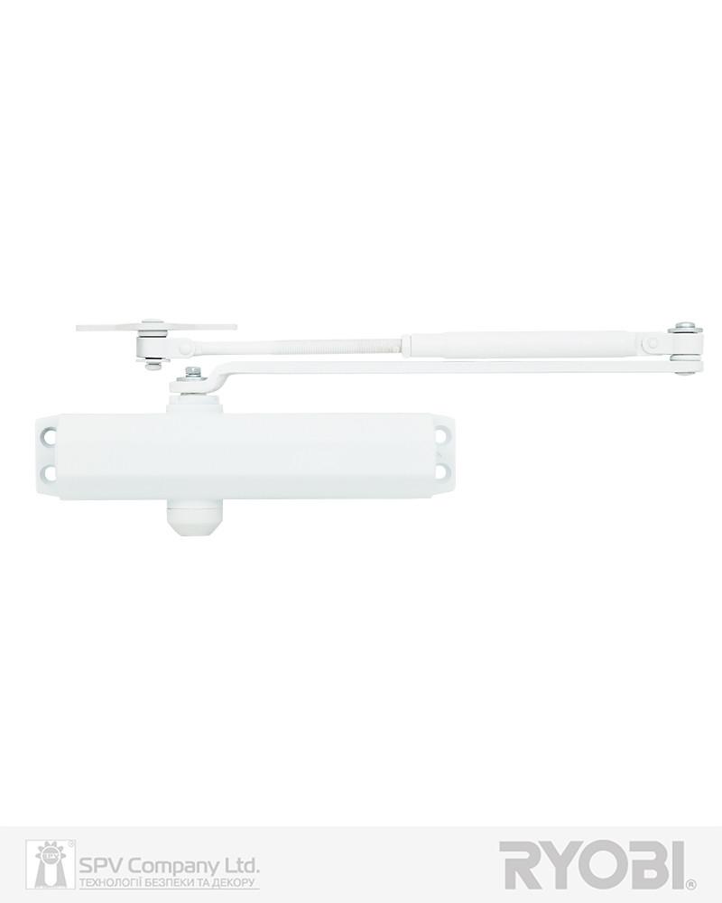 Доводчик дверной универсальный RYOBI *1500 D-1504 GLOSSY_WHITE UNIV_ARM EN_2/3/4 до_80кг 1100м