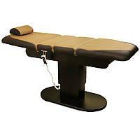 Стационарный электрический Массажный стол кушетка косметологическая 4-х секционная на усиленном каркасе ZD-869