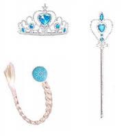 Набор Снегурочки  корона , палочка, косичка
