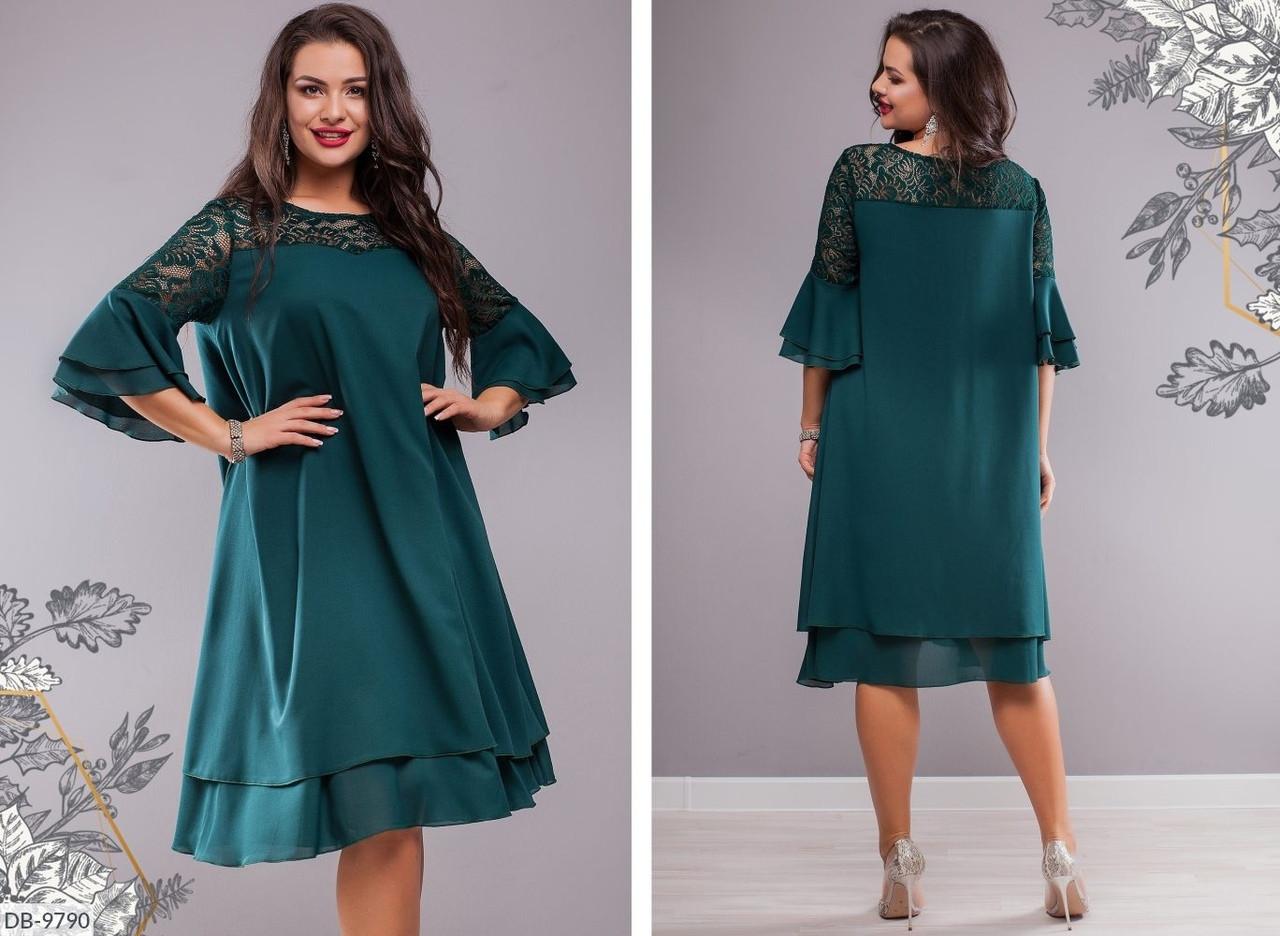 Стильное платье   (размеры 50-64) 0219-98