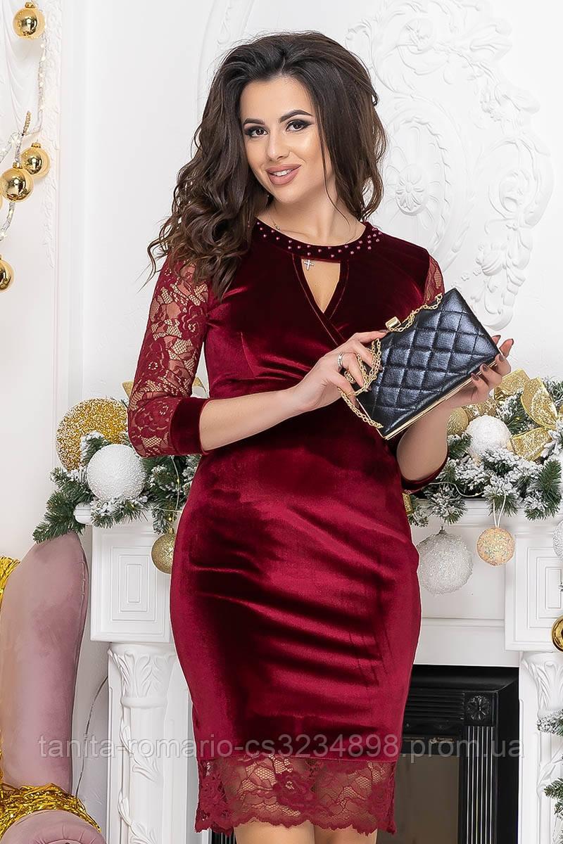 Коктейльное платье 9222 Бордо