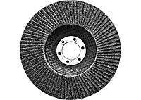 Круг лепестковый торцевой конический СибрТех Р 80, 150х22,2 мм