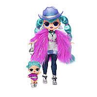 Кукла ЛОЛ Леди Галактика ОМГ и сестра LOL сюрприз L.O.L. Surprise! O.M.G. Winter Disco Cosmic Nova Fashion, фото 1
