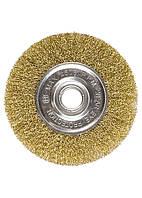 Щетка для УШМ Matrix 200 мм посадка 22,2 мм латунированная витая проволока