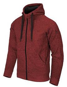 Куртка COVERT TACTICAL HOODIE (FullZip) - Red/Black Melange