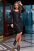 Черное платье 1274.3921 ТМ Seventeen 44-50 размеры