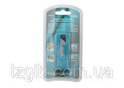 Лезвия Gross 19 мм, трапециевидные пластиковый пенал