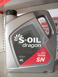 Моторное масло S-oil dragon sn 10w40
