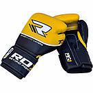 Боксерские перчатки RDX Quad Kore Yellow 12 ун., фото 3