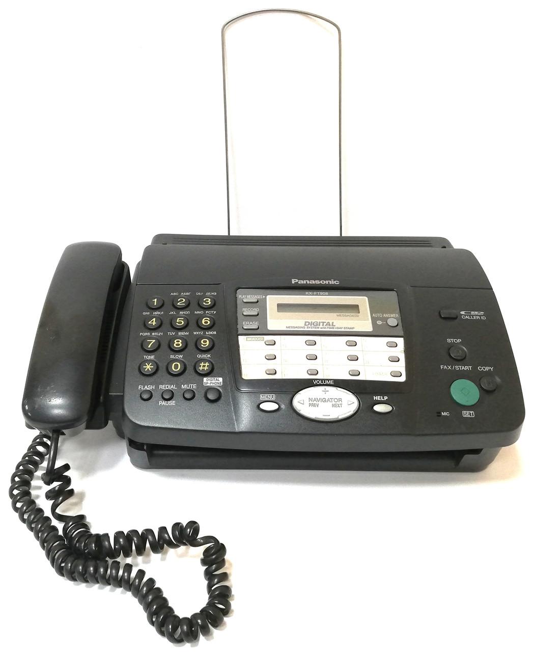 Факсимільний апарат телефон-факс Panasonic KX-FT908UA Б/У + Термопапір