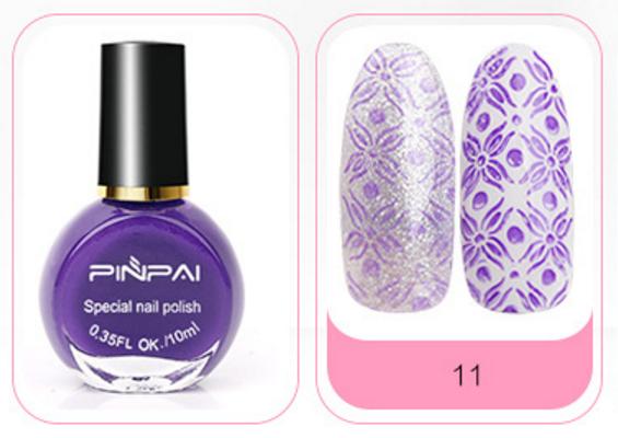 Краска-лак для стемпинга № 11, PINPAI, фиолетовая