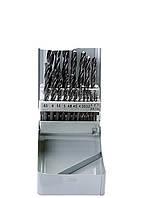 Набор сверл по металлу Sparta 1-10 мм (через 0.5 мм+3.2и4.8 мм) 21 шт.