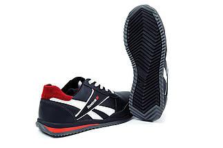 Мужские кожаные кроссовки в стиле Anser Reebok NS black черные, фото 2