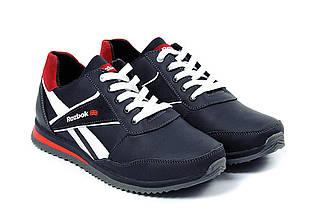 Мужские кожаные кроссовки в стиле Anser Reebok NS black черные, фото 3