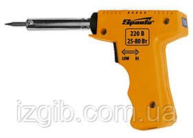 Паяльник-пистолет Sparta с регулировкой мощности 25-80 Вт, 220 В