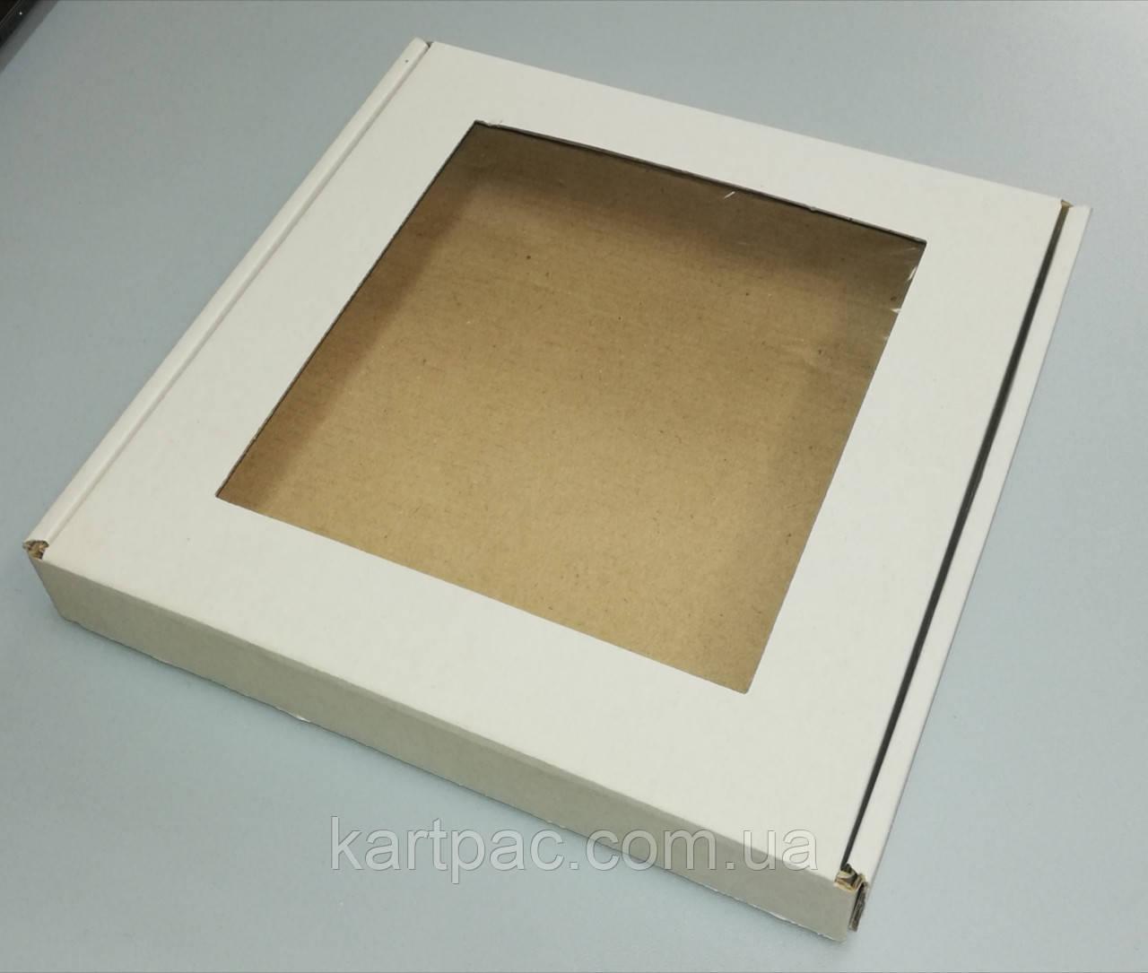Коробка для пряників з плівочкою 200*200*30