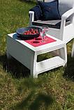 Стол садовый уличный Keter Corfu Сoffee Rattan Style Table из искусственного ротанга, фото 9