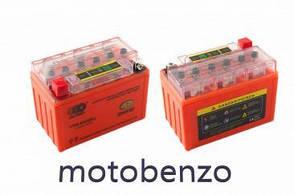Акумулятор 12V 9А гелевий 152x88x106, помаранчевий, з індикатором заряду OUTDO