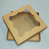 Упаковка для пряников 200*200*30 (бурая)