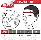 Боксерский шлем с защитой подбородка RDX WB S, фото 6