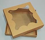 Упаковка для пряников бурая 155*155*30, фото 2