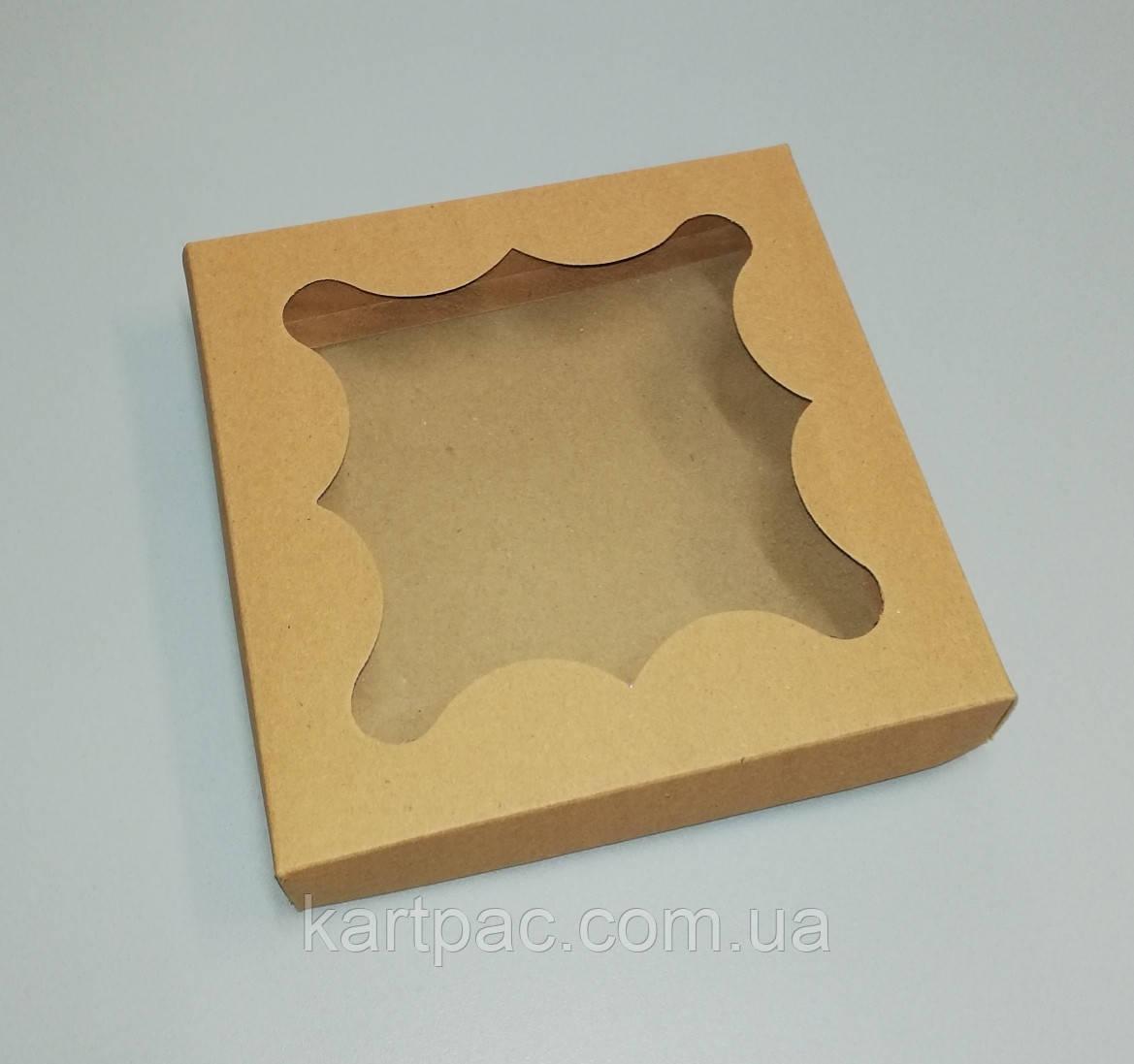 Упаковка для пряников бурая 155*155*30