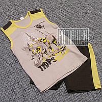 Детский летний костюм 104 3 года комплект майка и шорты на для мальчика мальчику на лет 5074 Коричневый