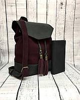 Женский кожаный рюкзак ручной работы Boorbon