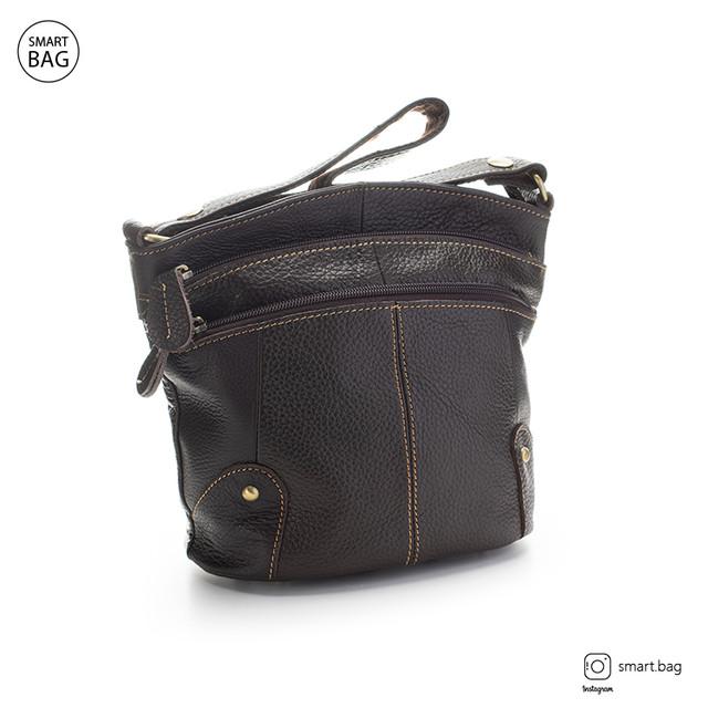 Женская кожаная сумка | коричневая