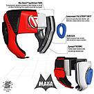Боксерский шлем детский RDX Red, фото 4