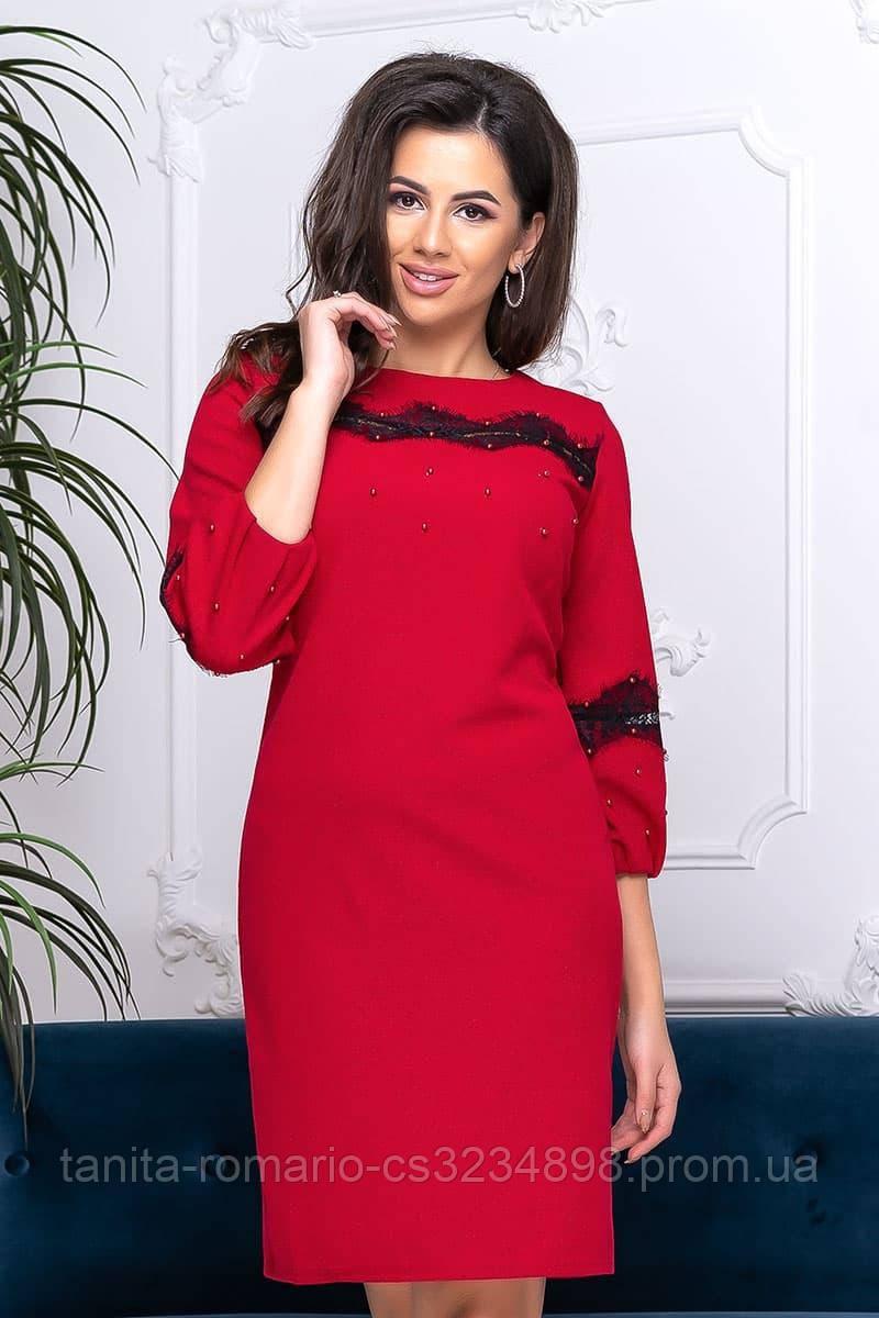 Повседневное платье 9195 e  Красный