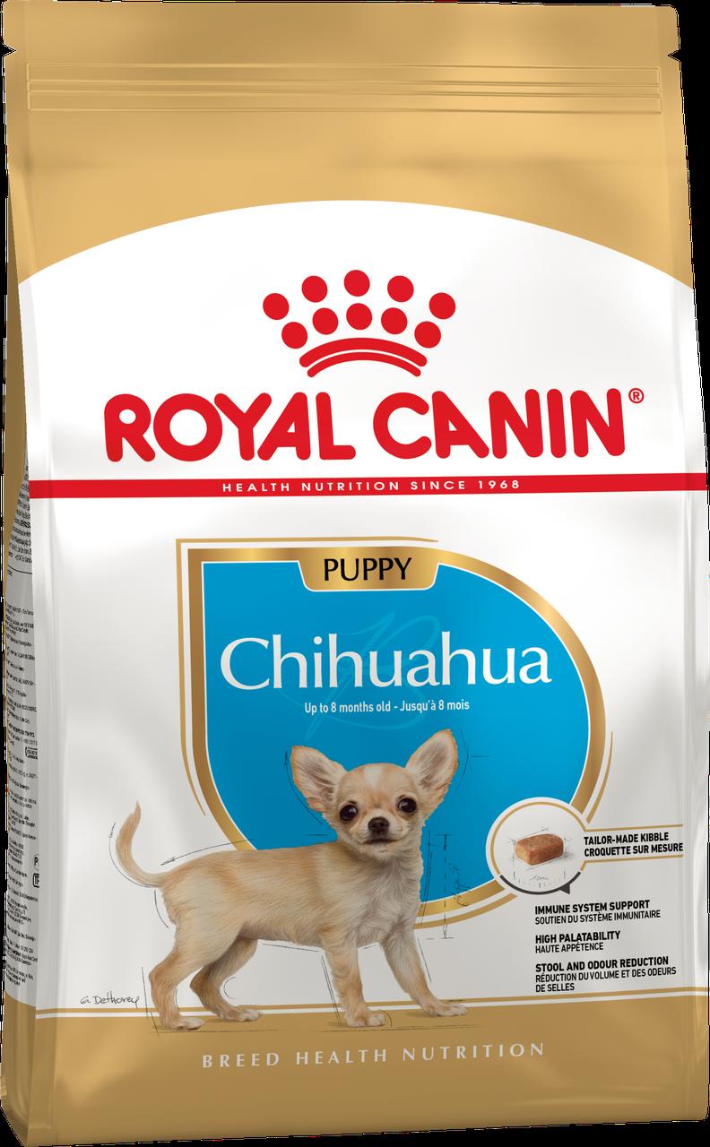 Сухой корм Royal Canin Chihuahua Junior для щенков, 1,5КГ
