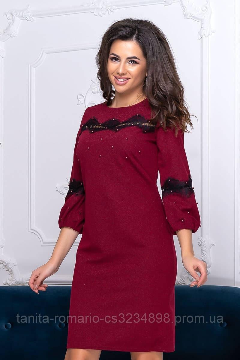 Повседневное платье 9195 e Бордо