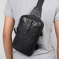 """Рюкзак сумка через плече """"Стиляга New 5"""" натуральная кожа"""