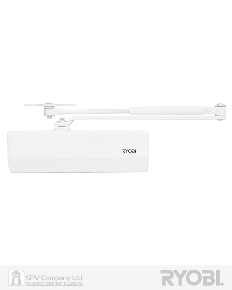 Доводчик для внутренних дверей RYOBI *1500 D-1554 GLOSSY_WHITE UNIV_ARM EN_2/3/4 до_80кг 1100мм FIRE