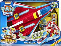 Щенячий Патруль самолет станция спасателей. супер щенки Paw Patrol Super Paws Transforming Mighty Pups Jet, фото 1