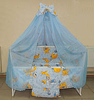 Набор постельного белья в детскую кроватку для новорожденных ( комплект 8 предметов), фото 1