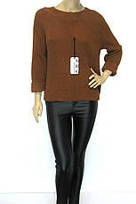 Жіноча в'язана кофта гірчичного кольору, фото 3