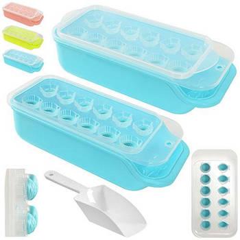 """Форма для льоду з контейнером і лопаткою STENSON """"Черепашки"""" 25 х 11 см (R21071)"""