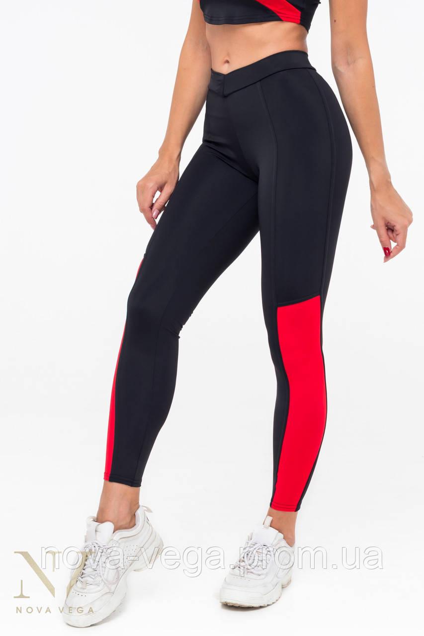 Тренировочные Женские Лосины Nova Vega Liberty Black&Red