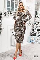 Облегающее леопардовое платье, фото 1